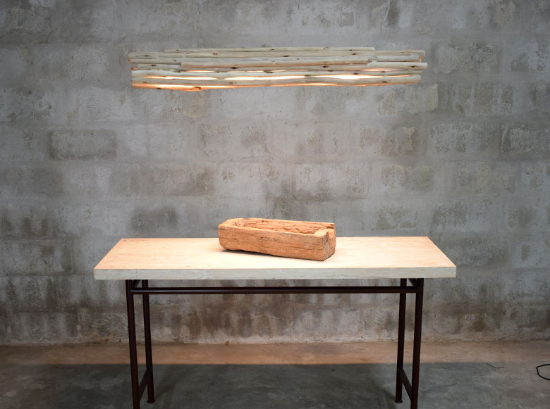 driftwood led hanging pendant, driftwood chandelier, white wash table, recycled wood