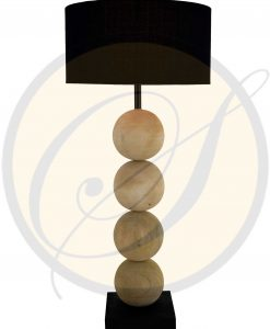 mango wood table lamp by Suna Living