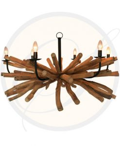 Phuket 6 lights driftwood chandelier by Suna Living