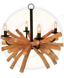 Driftwood chandelier Samui 4 lights by Suna Living