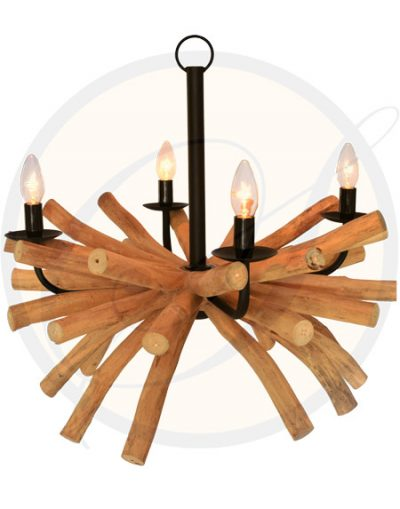 Driftwood chandelier Samui 4 lights by Suna Living