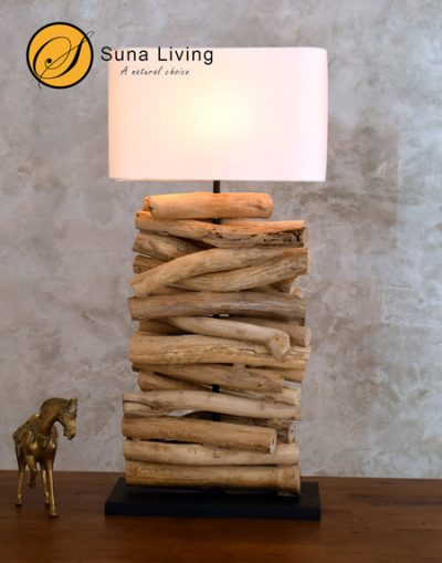 driftwood table lamp Pai by Suna Living