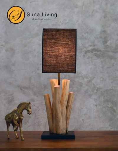 Driftwood table lamp Lampang Suna Living