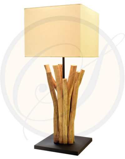 Driftwood table lamp Loei Suna Living