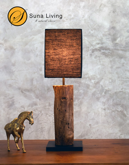 driftwood table lamp Nan Suna Living