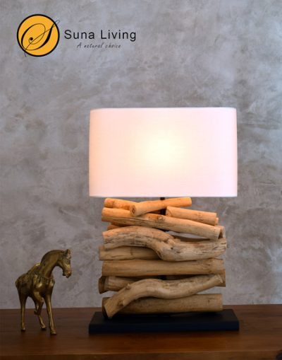 driftwood table lamp Lamphun by Suna Living